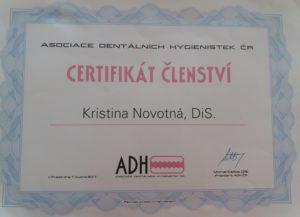 Členství v Asociaci dentálních hygienistek ČR